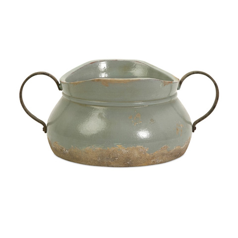 IMAX Worldwide Home - Calista Short Bowl with Metal Handle - 76004