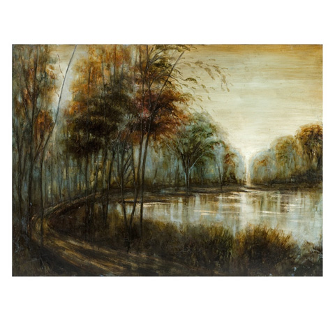 IMAX Worldwide Home - Marquette Landscape Oil Painting - 76101