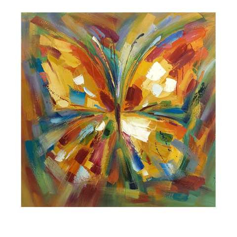 IMAX Worldwide Home - Lavinia Butterfly Oil Painting - 76144