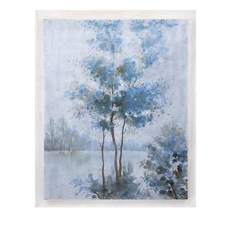IMAX Worldwide Home - Frost Awakening Wood Framed Oil Painting - 76272