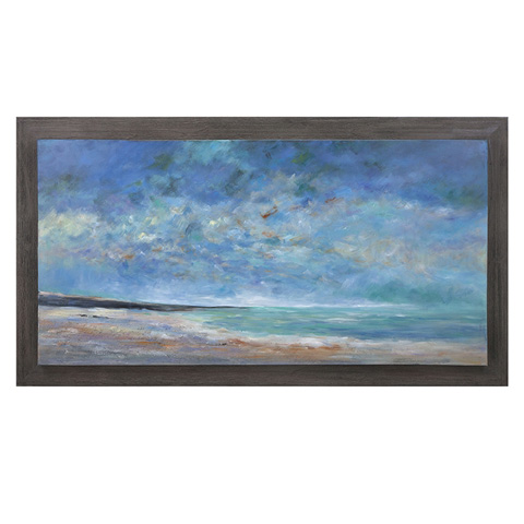 IMAX Worldwide Home - Sea of Dreams Wood Framed Oil Painting - 76282