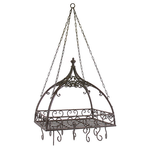 IMAX Worldwide Home - Domed Pot Rack with Hooks - 7784