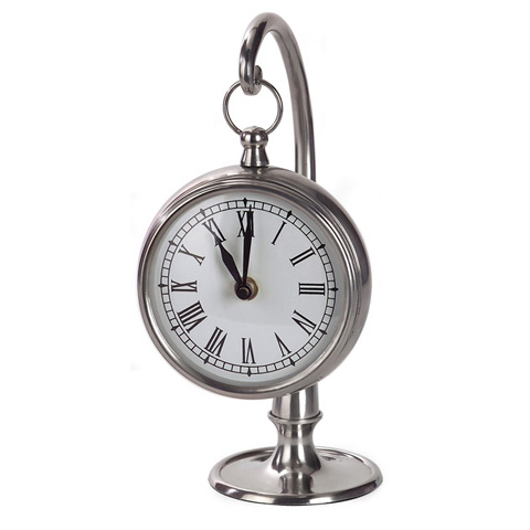 IMAX Worldwide Home - Pewter Finish Hanging Clock - 7870