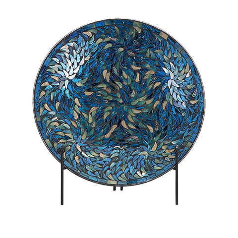 IMAX Worldwide Home - Peacock Mosaic Charger and Stand - 80034
