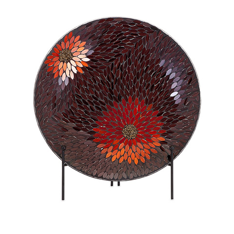 IMAX Worldwide Home - Autumn Flower Mosaic Charger and Stand - 80036