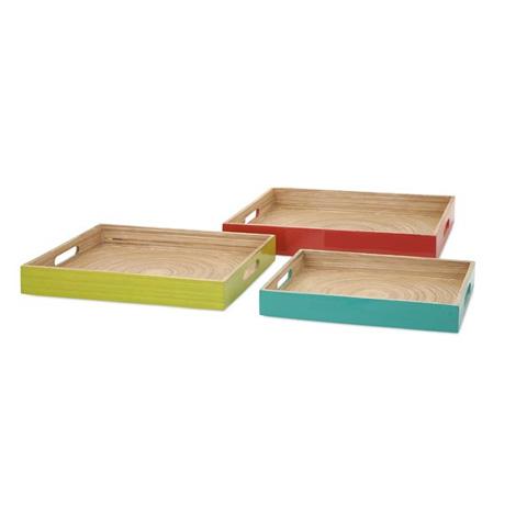 IMAX Worldwide Home - Jamye Bamboo Trays - Set of 3 - 81310-3