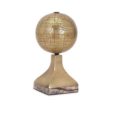 IMAX Worldwide Home - Beth Kushnick Globe with Stone Stand - 81403