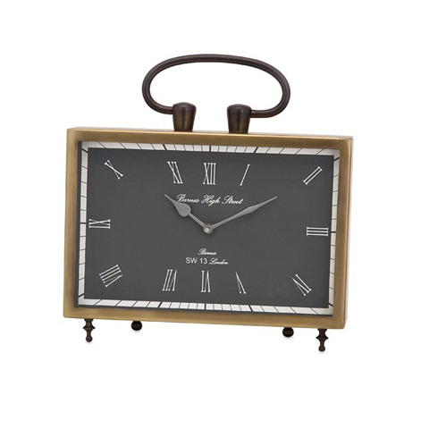 IMAX Worldwide Home - Beth Kushnick Brass Desk Clock - 81640