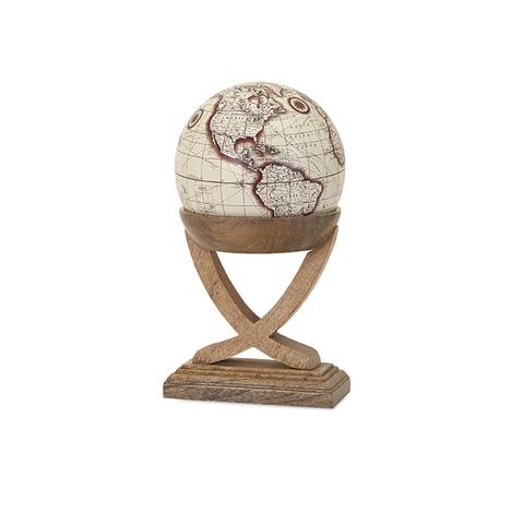 IMAX Worldwide Home - Merrin Globe with Wood Base - Small - 81665