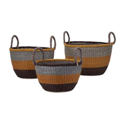 IMAX Worldwide Home - Camila Seagrass Baskets - Set of 3 - 81709-3