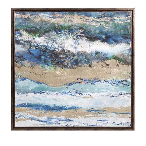 IMAX Worldwide Home - Seaside Waves Framed Canvas - 82201