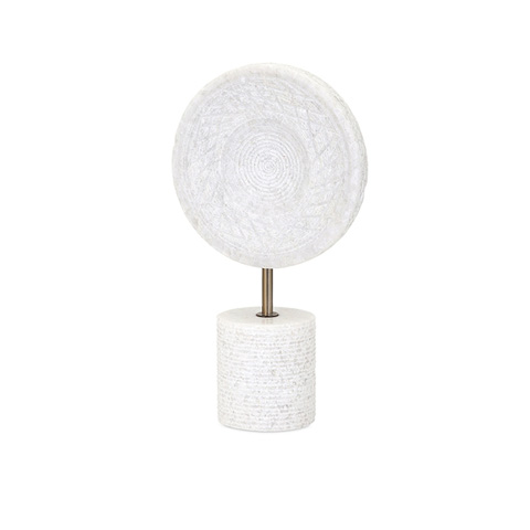 IMAX Worldwide Home - Peta Small Marble Medallion on Stand - 82515