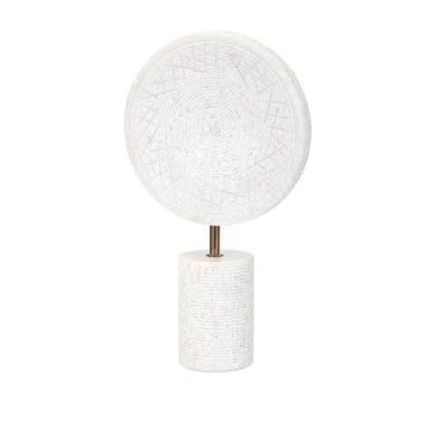 IMAX Worldwide Home - Peta Large Marble Medallion on Stand - 82516