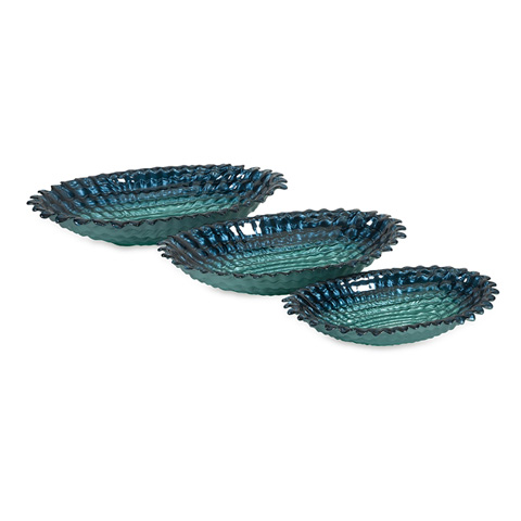 IMAX Worldwide Home - Arena Glass Bowls - Set of 3 - 83180-3