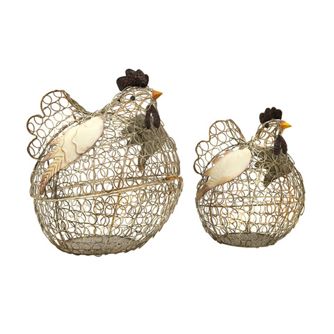 IMAX Worldwide Home - Elmore Wire Chickens - Set of 2 - 84113-2