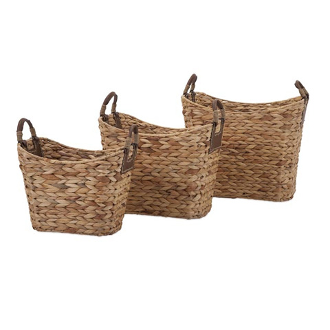 IMAX Worldwide Home - Niko Natural Weave Baskets - Set of 3 - 85859-3