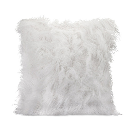 IMAX Worldwide Home - Nikki Chu White Faux Fur Pillow - 86069