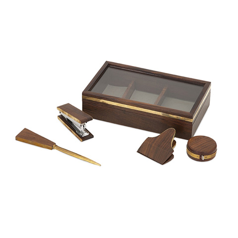 IMAX Worldwide Home - Beth Kushnick Desk Set in Wood Box - 86151