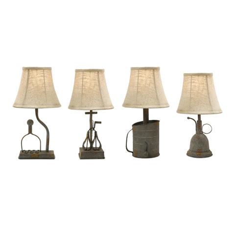 IMAX Worldwide Home - Mayberry Utensil Mini Lamps - Set of 4 - 87241-4