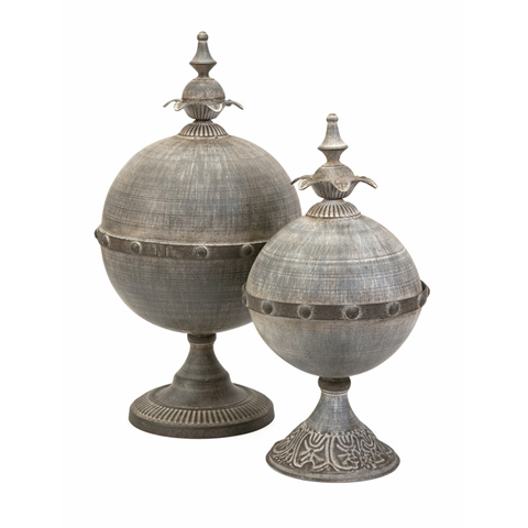 IMAX Worldwide Home - Decorative Lidded Sphere - Set of 2 - 89000-2