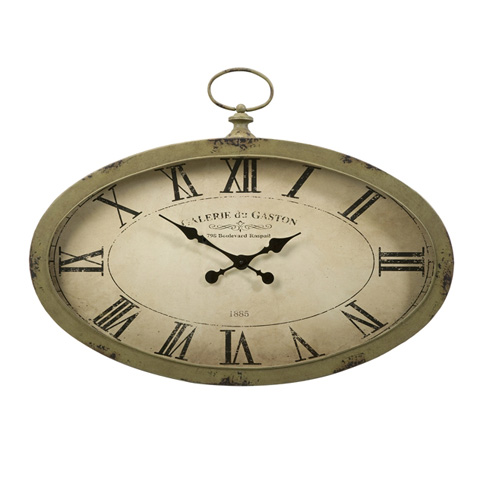 IMAX Worldwide Home - Sophie Oval Wall Clock - 89019