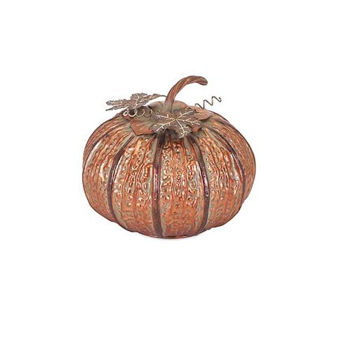 IMAX Worldwide Home - Easton Copper Pumpkin- Small - 89957