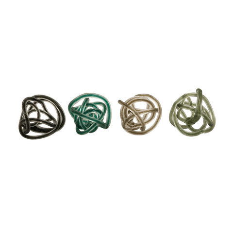 IMAX Worldwide Home - Large Glass Rope Knots - Set of 4 - 95318-4