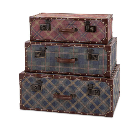 IMAX Worldwide Home - Ski Lodge Suitcase - Set of 3 - 96408-3