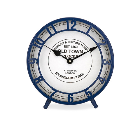 IMAX Worldwide Home - Essentials Marine Blue Desk Clock - 97298