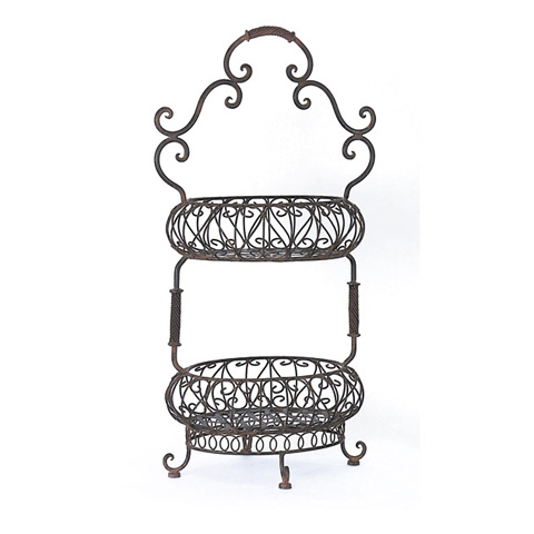 IMAX Worldwide Home - Two-Tiered Oval Baskets - 9745