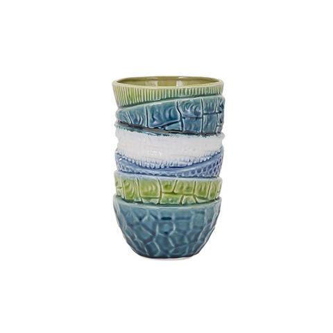 IMAX Worldwide Home - Stacked Bowl Short Vase - 25326