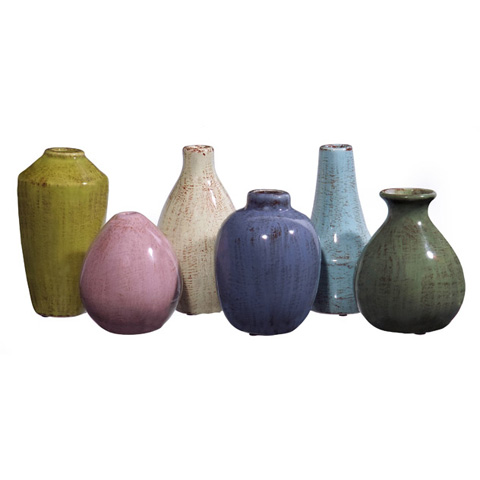 Image of Mini Tuscany Vases - Set of 6