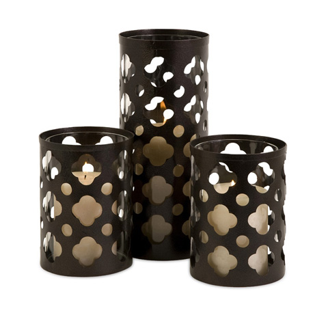 IMAX Worldwide Home - Norte Cutout Candleholders - Set of 3 - 56337-3