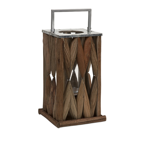 IMAX Worldwide Home - Santiago Large Wooden Lantern - 56380