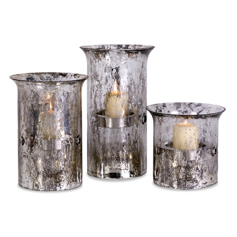 IMAX Worldwide Home - Mercury Candleholders - Set of 3 - 59002-3