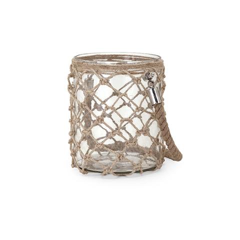 IMAX Worldwide Home - Luca Small Glass and Jute Lantern - 62189
