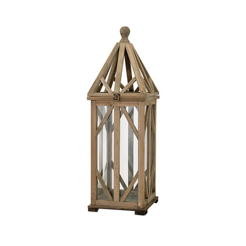 IMAX Worldwide Home - Garmen Small Wood Lantern - 65272