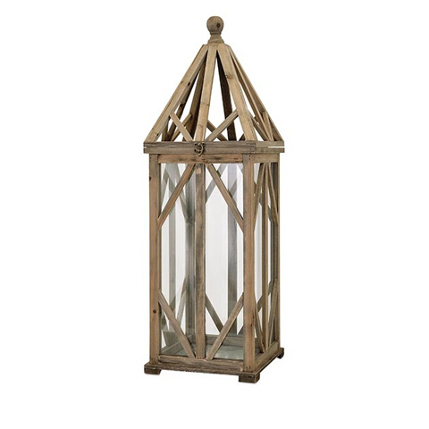 IMAX Worldwide Home - Garmen Large Wood Lantern - 65273