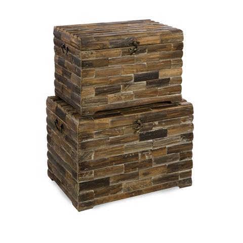 IMAX Worldwide Home - Moreton Wood Chests - Set of 2 - 74018-2