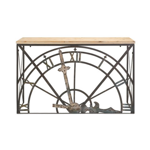IMAX Worldwide Home - Half Clock Console Table - 74165