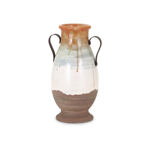 IMAX Worldwide Home - Morrison Medium Vase with Metal Handles - 76055