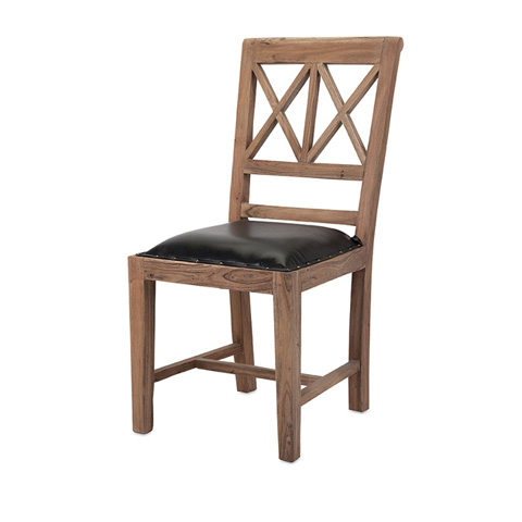 IMAX Worldwide Home - Becka Wood and Leather Dining Chair - 83222