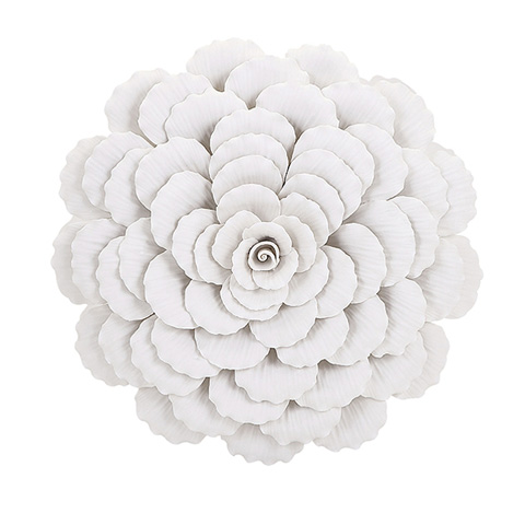 IMAX Worldwide Home - Evington Large Porcelain Wall Flower - 83335