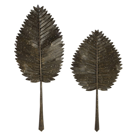 IMAX Worldwide Home - Cleopatra Leaves - Set of 2 - 84068-2