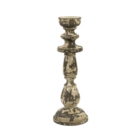 IMAX Worldwide Home - Armida Small Carved Wood Candleholder - 84317