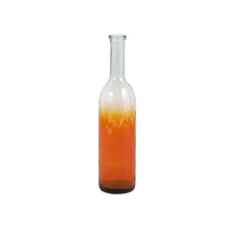IMAX Worldwide Home - Marbella Small Oversized Recycled Glass Bottle - 84543