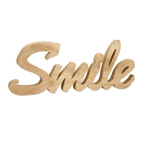 IMAX Worldwide Home - Smile Mango Wood Wall Decor - 84558