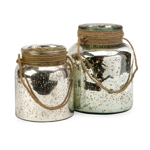 IMAX Worldwide Home - Bretton Jars with Jute Handle - Set of 2 - 84750-2