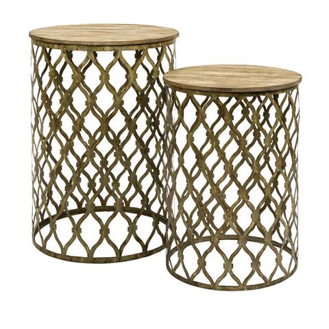 IMAX Worldwide Home - Maridell Nesting Tables - Set of 2 - 87335-2