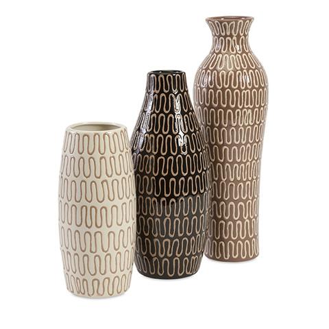 IMAX Worldwide Home - Tolek Vases - Set of 3 - 87827-3